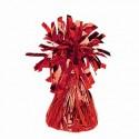 Ballongewicht, Halter für Luftballons mit Helium, Folienverzierung, Rot