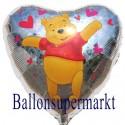 Pooh Bär Herzluftballon, Holografik (ohne Helium-Ballongas)