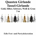 Fest- und Party-Dekoration, Quasten Girlande, Golden Wishes