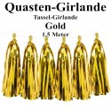 Fest- und Party-Dekoration, Quasten Girlande, Gold