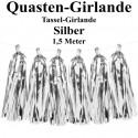 Fest- und Party-Dekoration, Quasten Girlande, Silber