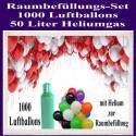 1000 bunte Luftballons mit Helium zur Raumbefüllung