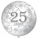 Riesenluftballon 25 Jahre, weiß, 75 cm