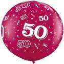 Riesenluftballon Zahl 50, pink, 90 cm