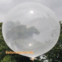 Riesenballon, großer Rund-Luftballon aus Latex, 100 cm Ø, Transparent