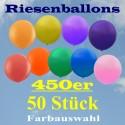 Riesenluftballons 450er Rund 50 Stück