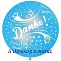 Riesenluftballon Danke, Himmelblau, 75 cm