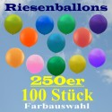 Riesenluftballons 250er Rund 100 Stück
