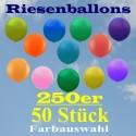 Riesenluftballons 250er Rund 50 Stück