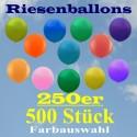 Riesenluftballons 250er Rund 500 Stück