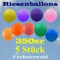 Riesenluftballons 350er Rund 5 Stück