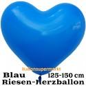 Riesen-Herzluftballon, 350 cm, Blau