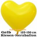 Riesen-Herzluftballon, 350 cm, Gelb