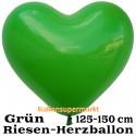 Riesen-Herzluftballon, 350 cm, Grün