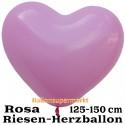 Riesen-Herzluftballon, 350 cm, Rosa