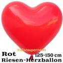 Riesen-Herzluftballon, 350 cm, Rot