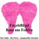 Rosa Engelsflügel aus Federn, Hen Party, Junggesellinnenabschied