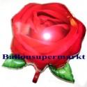 Luftballon Rose, Folienballon mit Ballongas