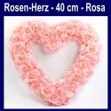 Rosen-Herz, Rosa, Herz aus Rosen, 40 cm, Dekoration Hochzeit