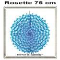 Rosette, Bayrisches Muster, 75 cm, schwer entflammbar
