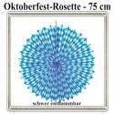 Oktoberfest Rosette, Bayrisches Muster, 75 cm, schwer entflammbar