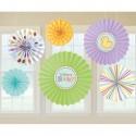 Deko-Rosetten, Welcome Baby, Dekoration Babyparty, Geburt, 6 Stück