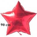 Sternballon Jumbo rot, 90 cm (ungefüllt)