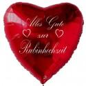 """Roter Luftballon in Herzform """"Alles Gute zur Rubinhochzeit"""", inklusive Helium"""