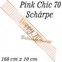 Schärpe Pink Chic 70 zum 70. Geburtstag