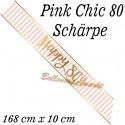 Schärpe Pink Chic 80 zum 80. Geburtstag
