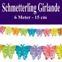Schmetterling Girlande