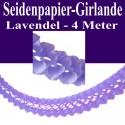 Seidenpapier-Girlande Lavendel, 4 Meter