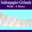 Seidenpapier-Girlande Weiß, 4 Meter