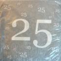Servietten zum 25., Jubiläum, Geburtstag, Silberne Hochzeit