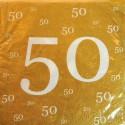 Servietten zum 50., Jubiläum, Geburtstag, Goldene Hochzeit