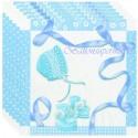 Servietten zu Geburt, Taufe und Babyparty, Baby Shower, blau