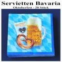 Oktoberfest Servietten, Bavaria, 20 Stück
