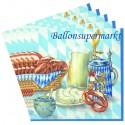 Oktoberfest - Bayrische Wochen Servietten, Bayrische Brotzeit, 20 Stück
