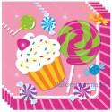 Servietten Sweet Shop, Candy Bar Geburtstagsparty, Candy Shop, 16 Stück