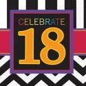 Geburtstagsservietten zum 18. Geburtstag, Celebrate