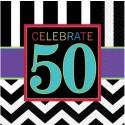 Geburtstagsservietten zum 50. Geburtstag, Celebrate 50