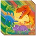 Dinosaurier Kindergeburtstag-Party-Servietten, 20 Stück, Prähistorische Party