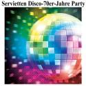 Servietten Disco Party, 70er Jahre Disco-Fever, 16 Stück