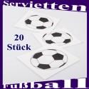 Tischdeko-Servietten Fußball, 20 Stück