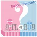 Servietten Girl or Boy, Gender Reveal Partydekoration