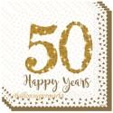 Servietten 50 Happy Years zum 50., Jubiläum, Geburtstag, Goldene Hochzeit