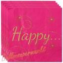 Servietten Happy, pink, 20 Stück