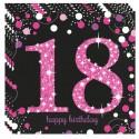 Geburtstagsservietten zum 18. Geburtstag, Pink Celebration