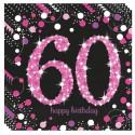 Geburtstagsservietten zum 60. Geburtstag, Pink Celebration