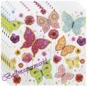 Party-Servietten, Schmetterlinge, 20 Stück